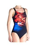 Arena Orchidea One Piece Textile Swimsuit, Size 38 (Black)