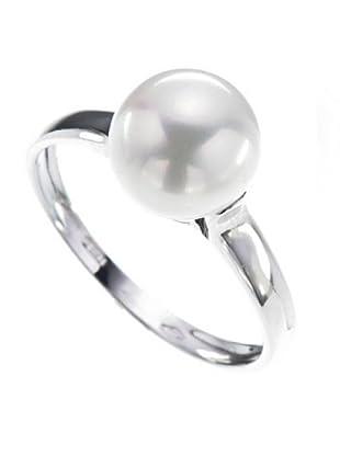 Le Perle di Emi Kaway Anello Oro Bianco 18k Perla 8,0 mm