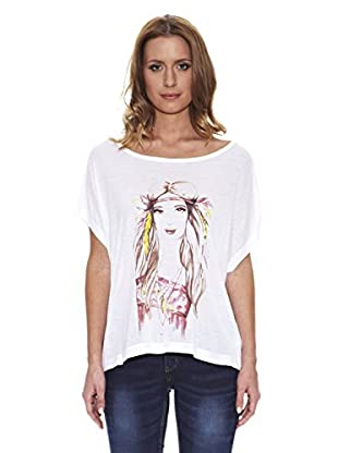 Peace & Love Camiseta Print (Blanco)