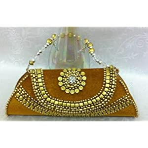 Golden brown clutch