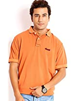 Skatti Premium Pique Orange Classic Fit Polo (Size: Large)