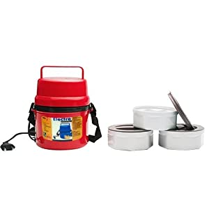 Power Plus Electric Microweavable Containers Hot Lunch Box, 3-Piece (H06R)
