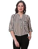 PURYS Black & White Stripe Shirt