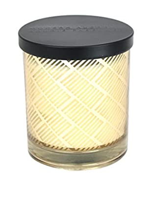 Modern Alchemy Box Patterned Gold Mango Wood 10-Oz. Candle