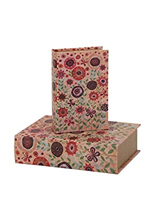 Set of 2 Flower Power Book Boxes