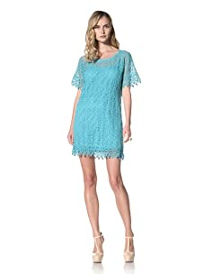 Yoana Baraschi Women's Venice Lace Tunic Shift Dress (Turquoise)