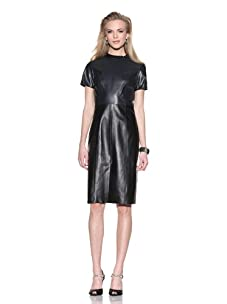 Chris Benz Women's Leather Sigrid Dress (Black/Navy)