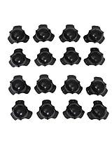 New Set of 16 Large Steel Black Cabinet Speaker Three Leg Corners C304B
