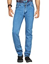 Dfu Men's Poly Cotton Relaxed Fit Jeans ,Blue (40)