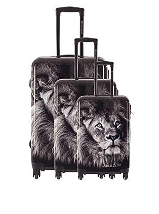 Platinium 3er Set Hartschalen Trolley Animals
