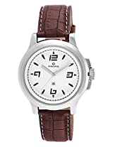 Maxima Attivo Analog White Dial Men's Watch - 24030LMGI