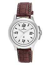 Maxima Attivo Analog White Dial Men's Watch - 24030LMGI