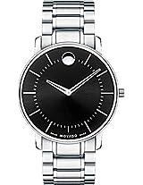 Movado Tc Thin Analogue Black Dial Men's Watch - 606687