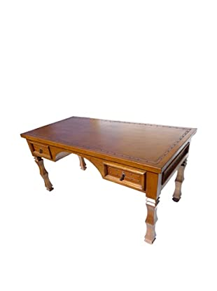 New World Trading Magistrate Desk, Antique Brown