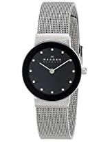 Skagen Women's 358SSSBD Freja Quartz 2 Hand Stainless Steel Silver Watch