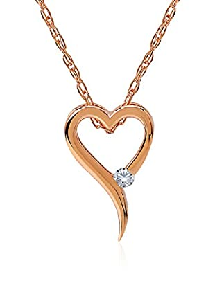Divas Diamond Collar Diamond Heart Rose Gold