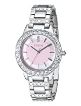 Fossil Analog Silver Dial Women's Watch - ES2189