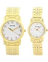 Sonata Analog White Dial Couple's Watch - 71178137YM01