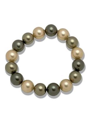Perldor 60650069 - Pulsera de mujer con perla natural Bronce 19 cm