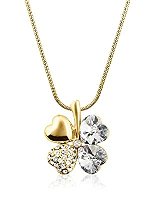 Philippa Gold Collar Cloverleaf metal bañado en oro 24 ct