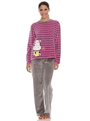 Blue Dreams Pijama Señora Tundosado (gris)
