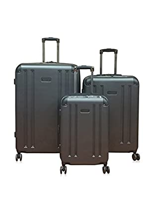 Kenneth Cole Reaction 8 Wheelin Expandable Hardside Spinner 3-Piece Set, Pewter