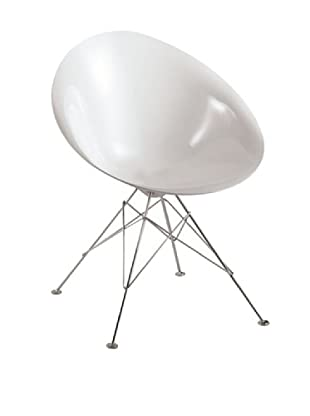 Fine Mod Eco Wire-Base Dining Chair, White