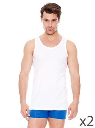 DIM Sport-Unterhemd mit breiten Trägern 2er Pack (Weiß)