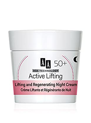 AA Cosmetics Nachtcreme Age Technology Active Lifting 50+ 50 ml, Preis/100 ml: 29.9 EUR