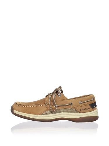 Sebago Men's Helmsman Boat Shoe (Dark Tan)