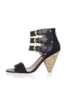 Matt Bernson Women's Cortez 3-Strap Sandal (Black)