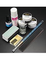 Acrylic Powder Primer Brush Pen Dish Forms Buffer File Nail Art Set