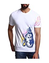 Men - T-Shirt - Boys - Round Neck - Casual Wear - White - - Shiva