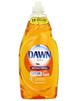 Dawn Ultra Concentrated Antibacterial Hand Soap Dishwashing Liquid, Orange Scent, 24 Ounce (Pack of 2)