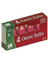 NOMA/INLITEN-IMPORT 1075R-88 C7 RED Bulb, 4-Pack