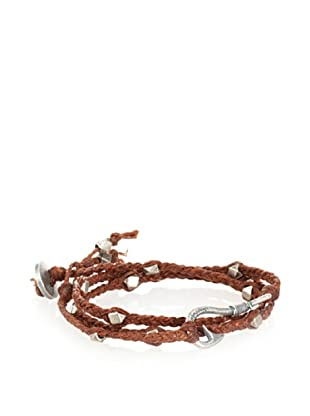 Ettika Men's Brown Fisherman's Hook Wrap Bracelet