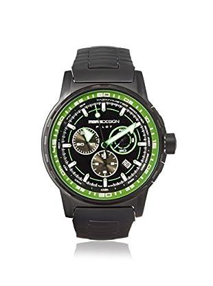 MOMODESIGN Men's MD2164BK30-MB Pilot Black/Green Black PVD Watch