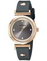 Armitron Women's 75/5288GYRGGY Swarovski Crystal Accented Rose Gold-Tone and Grey Silicone Strap Watch