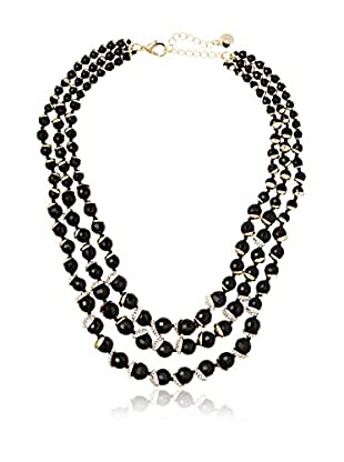 Fragments Triple-Strand Faceted Bead & Pavé Statement Necklace