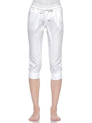 Deha Pantalón Capri Algodón (Blanco)