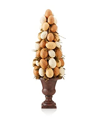 Faux Farm Fresh Egg Cone, Brown/Off-White
