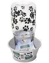 Lixit Animal Care Dog Feeder/Fountain Reversible Base, 64-Ounce