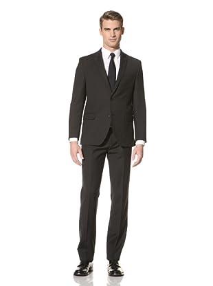 Tallia Men's Vasco Mini Herringbone Two-Button Suit (Black)