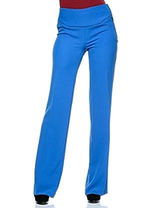 Annarita N Pantalón de Vestir Leg/Palazzo (Azul Eléctrico)