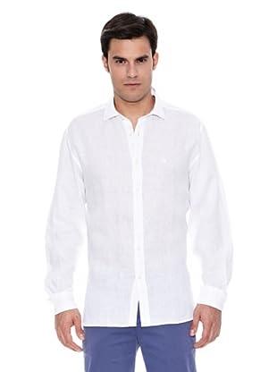 Pedro del Hierro Camisa Lino Liso (Blanco)