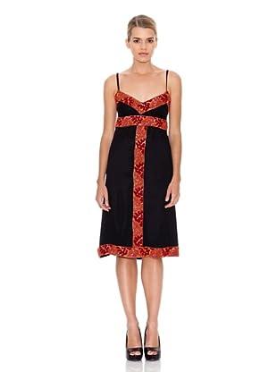 Monoplaza Vestido Pedrería (Negro)