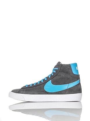Nike Zapatillas Blazer Mid Vintage (Gs) (Gris/Azul)