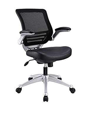 Modway Edge Leather Office Chair, Black