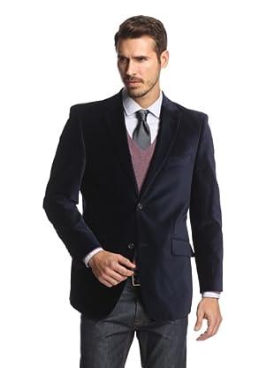 Cosani Collezioni Men's 2-Button Velvet Blazer (Navy)