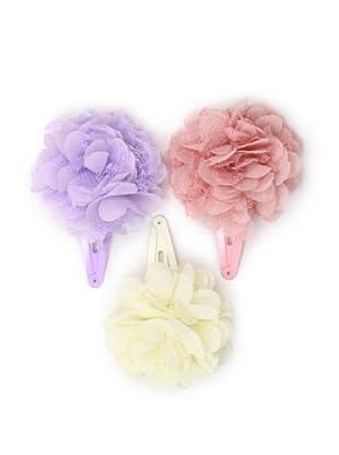 Liliella Lace Flower Hairclip Set